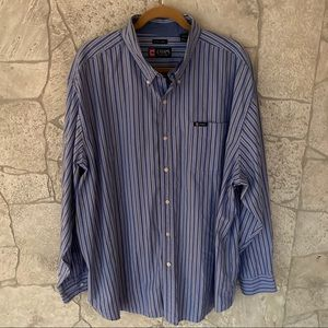 CHAPS EASY CARE BUTTON DOWN LONG SLEEVE SHIRT 3XL